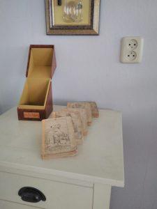 Cassette met losse boekjes